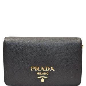 Prada Mini Black Saffiano Leather Shoulder Bag